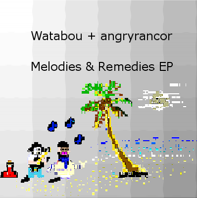 EDM/Dubstep/Glitch Music - Watabou + angryrancor - Melodies & Remedies EP - cover