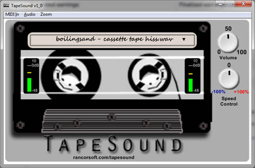 TapeSound plugin from Rancorsoft